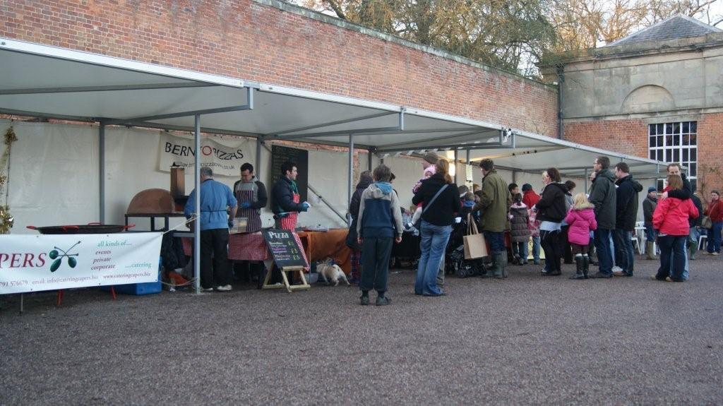 tent market stalls