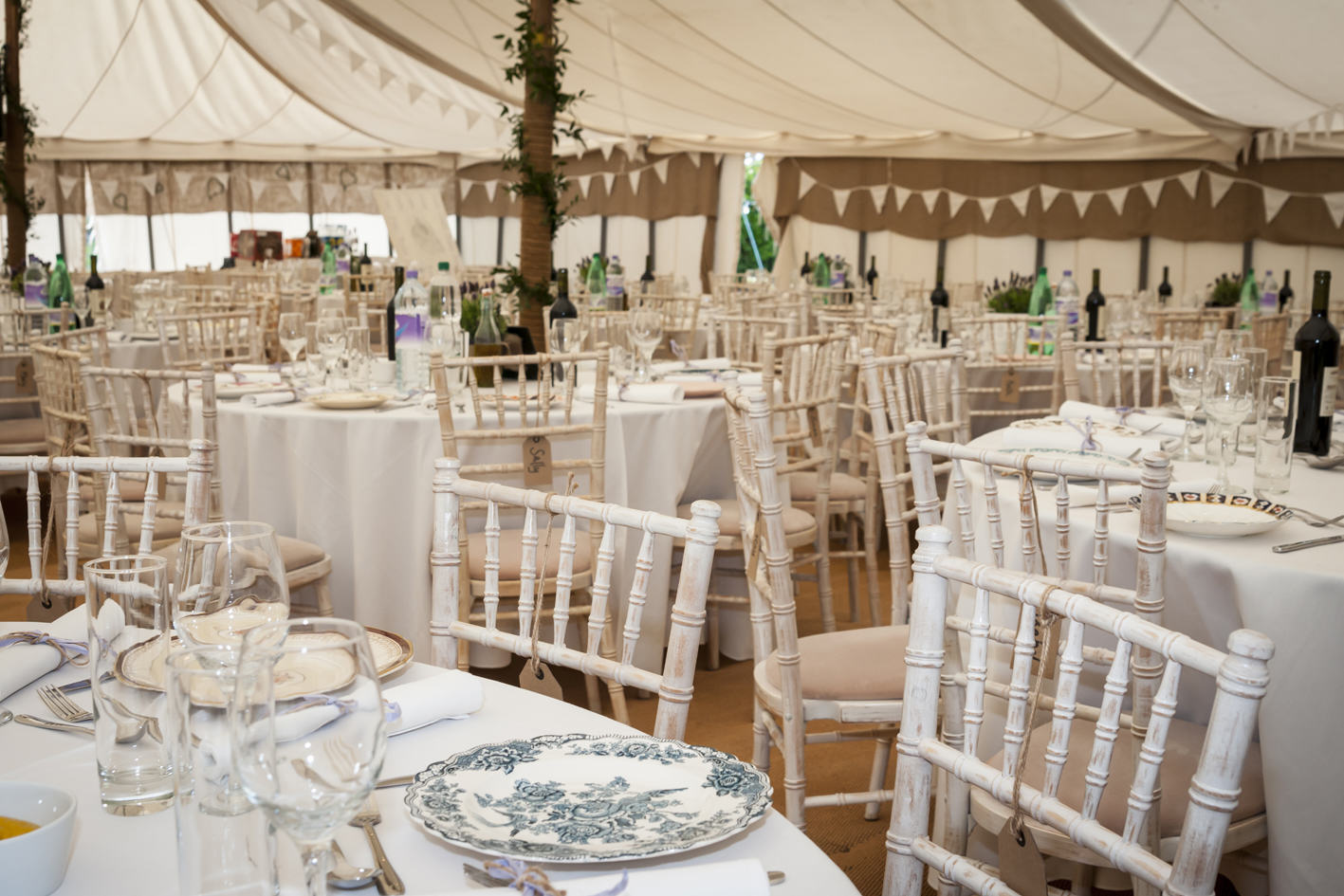 Tent marquee table and chairs