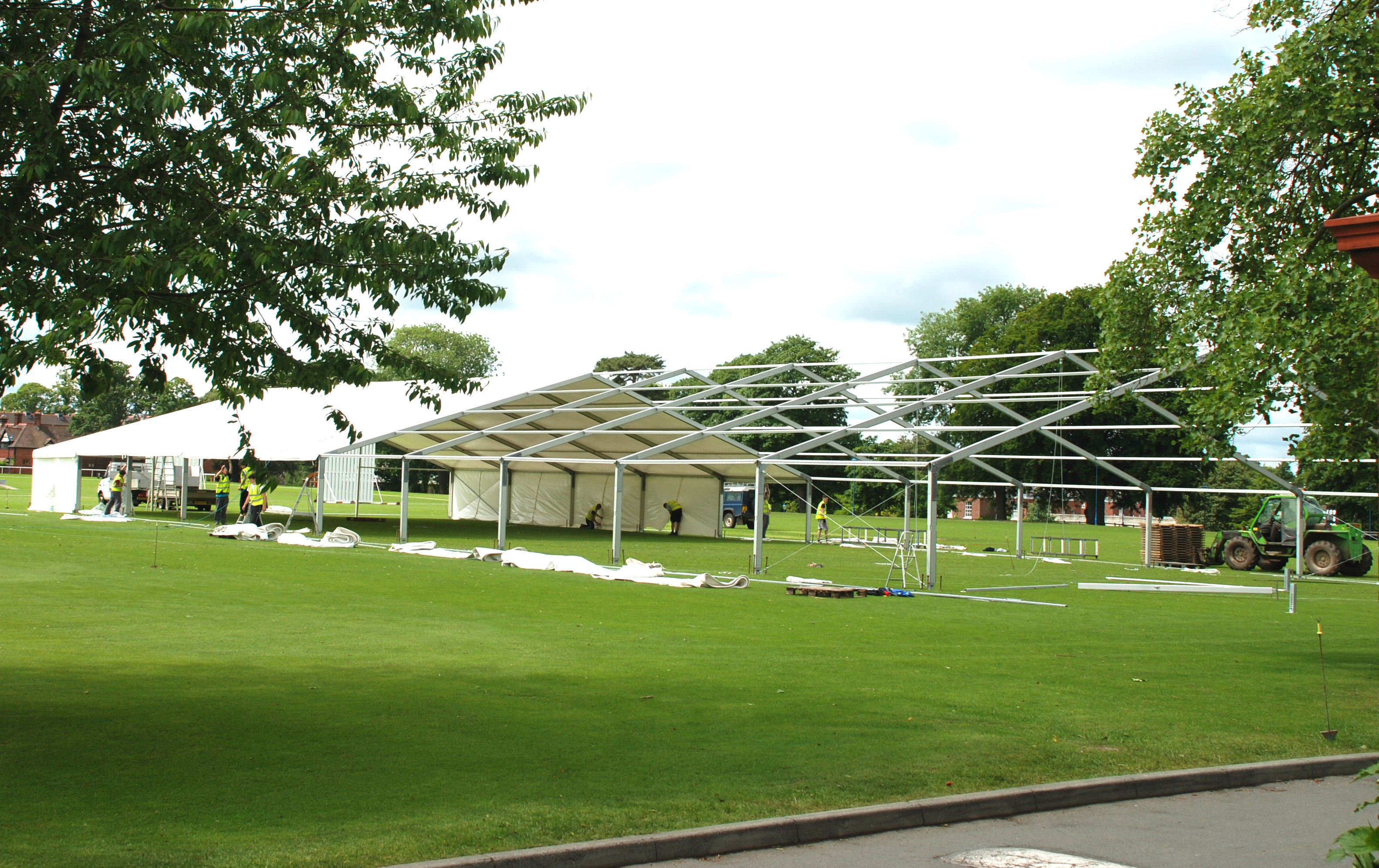 Marquee being built
