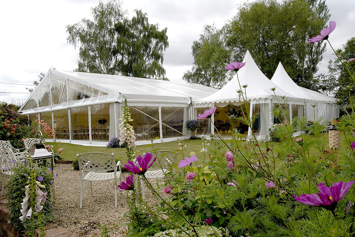 Celeste pole marquee – clear sides